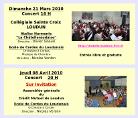 Calendrier de l'Ecole de Cordes du Loudunais, et des anciens ''Ateliers Musicaux Nicolas Verdon''. Concerts, Répétitions. Loudun, Huismes, Pavillon du Québec (salle municipale d' Angliers), Collégiale de Oiron, Espaces Jeunes de Loudun, Mediatheque municipale de Loudun, Centre Culturel municipal de Loudun, Salle de promotion de Loudun (municipale), Salle de l'Ancienne Commédie de Loudun (salle municipale), Ecole de Musique de Huismes, Salle des fêtes municipale de Huismes, Salle des Fêtes municipale de Veniers, Assemblée générale du Crédit Mutuel de Loudun, Jumelage Audin le Tiche, Assemblèe générales des comités de Jumelage de Loudun, Nouveaux Théatre de Chatelerault.