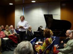 """MÉDIATHÈQUE DE LOUDUN Mardi 03 Mars 2010 """"Autour de Frédéric Chopin et de George Sand""""  Récital commenté organisé conjointement par la Médiathèque de Loudun, et par l'Ecole de Cordes du Loudunais. Pianistes : Geneviève Verdon et Luc Vidal"""